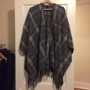V Fraas soft plaid tartan wrap. One size